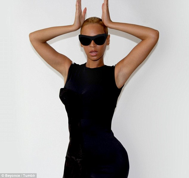 Angel or devil? Beyonce has been wanting to share the news of her diet with her fans, in a bid to promote healthy living it seems