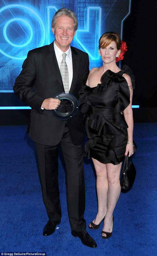 Costly divorce: One of the reasons for her debt was Melissa's 2011 divorce from Bruce Boxleitner (left in 2010)
