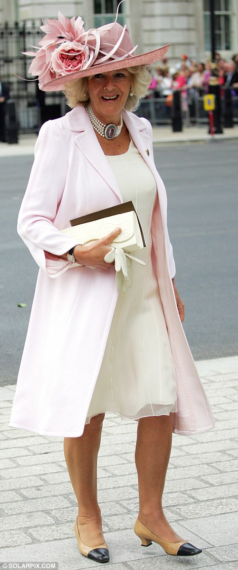 Pretty in pink: As the Duchess ages, flatteringly soft powder pink has become an increasingly dominant colour in her wardrobe