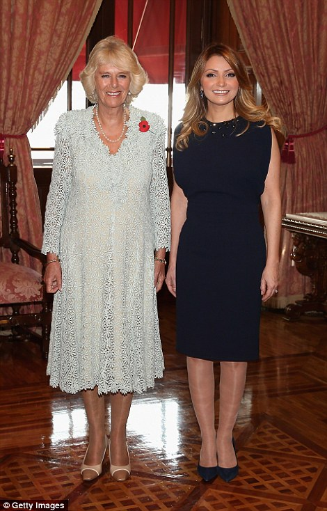 Looking good: Camilla has also mastered dressing for big occasions and is seen here in Mexico (left) and during the Mexican State Visit (right)