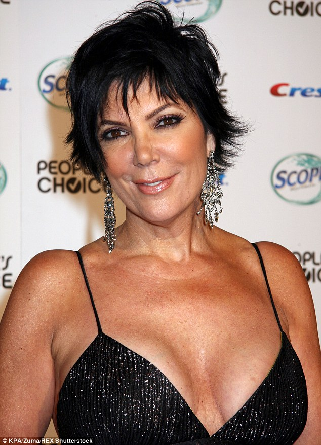 Busting out: Kris has a cleavage moment back in 2007 at a bash in LA