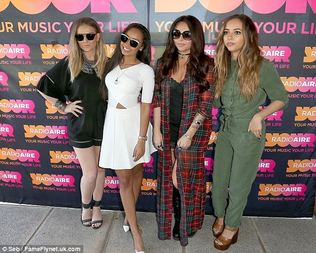 Doing their thing: Little Mix have been hard at work promoting their new single Black Magic over the past few days