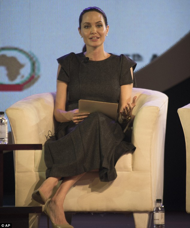 UN ambassador: The 40-year-old actress spoke about rape as a weapon of warfare