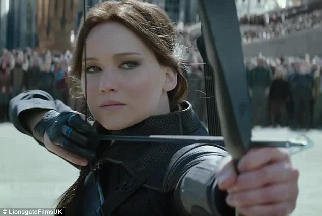 'Turn your weapons to the Capitol': Katniss Everdeen (Jennifer) prepares for battle in the first trailer for The Hunger Games: Mockingjay - Part 2