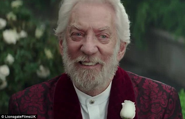 'The game isn't over': The villainous President Snow only grins at the thought of Katniss coming after him