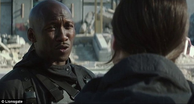 Pep talk: Boggs tells Katniss that there is 'only one thing' she can do 'to add more fire to this rebellion'