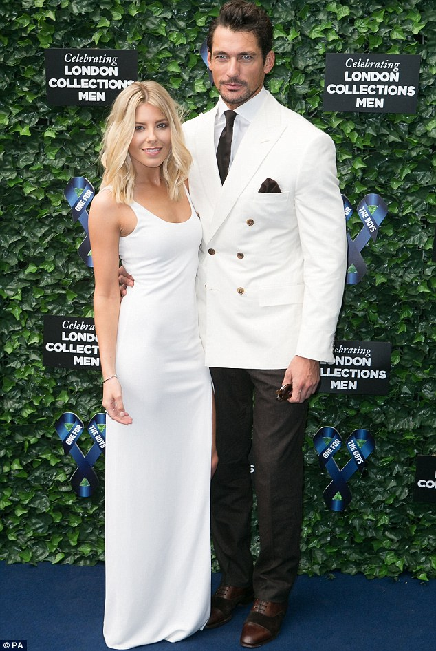 Stylish couple: Mollie was joined by boyfriend David Gandy at the event held by Samuel L Jackson