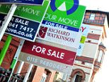 A general view of for sale signs outside a block of flats. Asking prices edged ahead during January as the number of homes being put up for sale fell to a two-year low, research indicated today. The 0.3% rise in asking prices for properties in England and Wales during the five weeks to January 8 came after prices had fallen during five of the previous six months, dropping by 6.2% during December and November alone, according to property website Rightmove. See PA story MONEY House. Photo credit should read: Rebekah Downes/PA Wire. PRESS ASSOCIATION Photo. Issue date: Monday January 17, 2011.  File photo dated 12/10/2010. Embargoed to 0001 Monday January 17