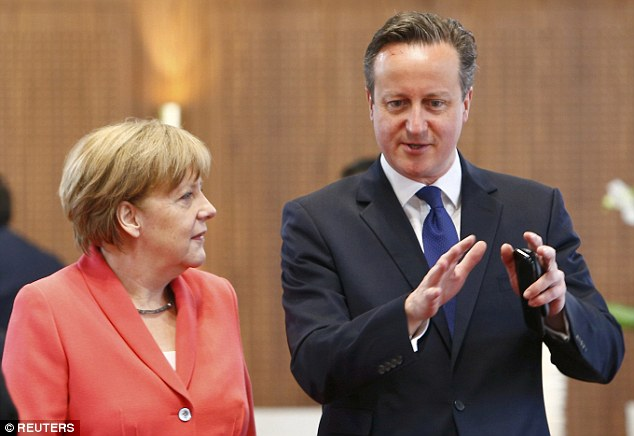The group willcall for an 'out' vote in the referendum on Britain's EU membership unless David Cameron, pictured above with Angela Merkel, wins radical reforms