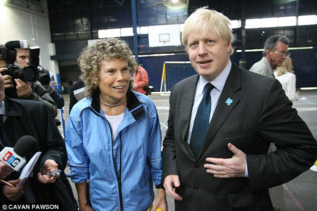 Rebellion: One member of the new anti-EU group, MP Kate Hoey, pictured with Boris Johnson says the party might have 'won a few more seats' if Ed Miliband had backed an EU referendum in the manifesto