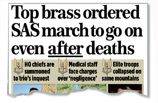 The Mail on Sunday's story last week on the inquest into the soldier's death