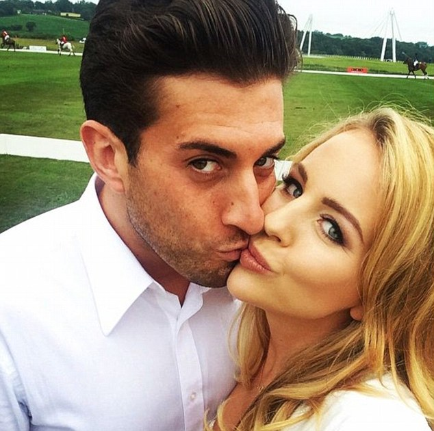 'Love of my life': Lydia posted this romantic selfie with her boyfriend James 'Arg' Argent to celebrate their seventh anniversary