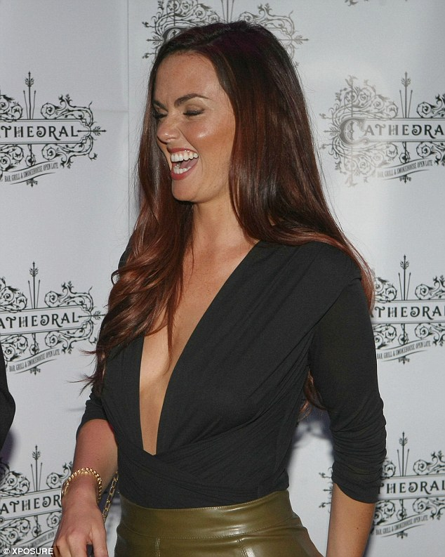 Side-boob: The popular actress showed off her cleavage when she stood to the side