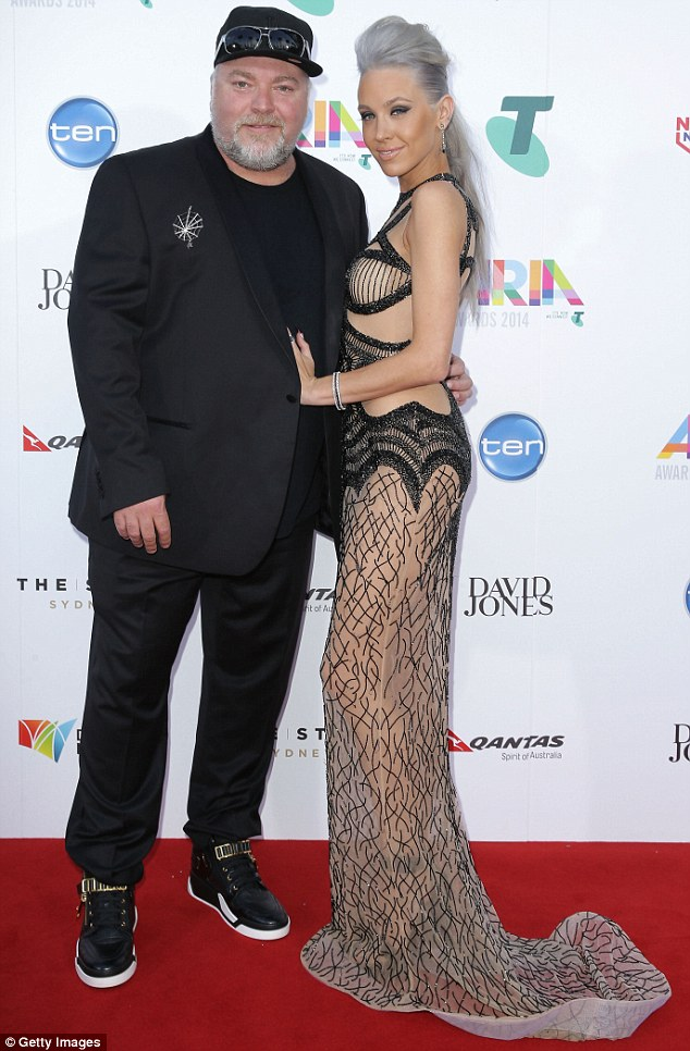 To be wed? Kyle Sandilands opened up on his KIIS 1065 radio show on Thursday about the fact that Imogen 'wants a black wedding dress' - despite not yet being engaged