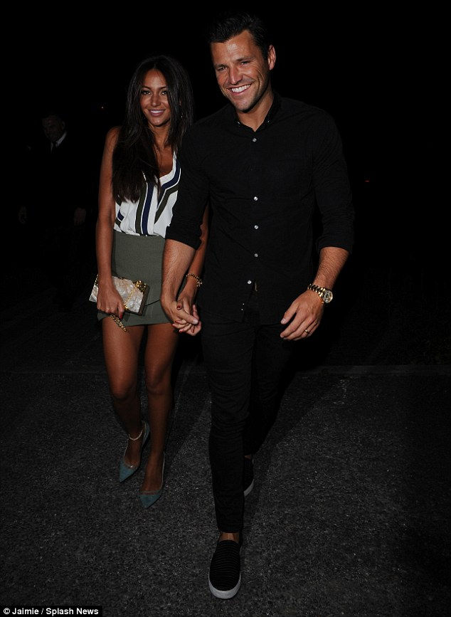 Party time:The Dubai tans were still very much in evidence as newlyweds Mark Wright and Michelle Keegan enjoyed a night out in Windsor on Friday evening