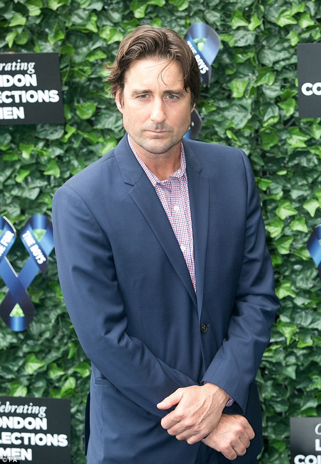 Handsome: Actor Luke Wilson was typically good-looking at the event in Camden