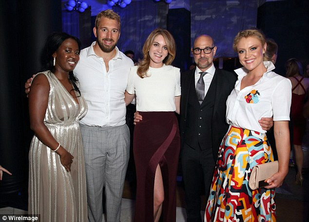Line-up: Sofia Davis, Chris Robshaw, Felicity Blunt, Stanley Tucci and Camilla Kerslake