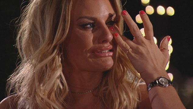 Trouble in paradise: Danielle Armstrong was seen wiping tears away from her face int he first episode of the show