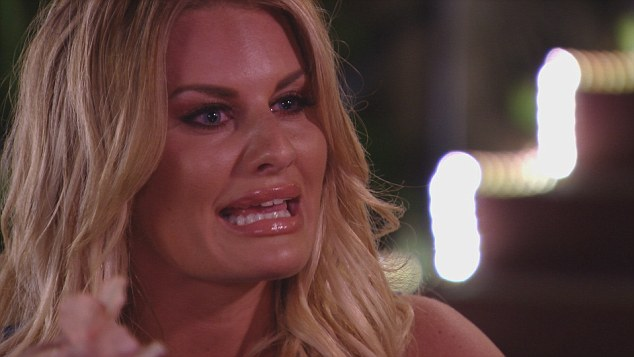 Hurt: Danielle is seen lashing out while discussing her woes with boyfriend James in the forthcoming episode