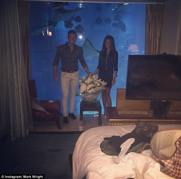 Under the sea: The couple spent part of their honeymoon in the Atlantis Palm in Dubai, where rates start from £5,272 per night
