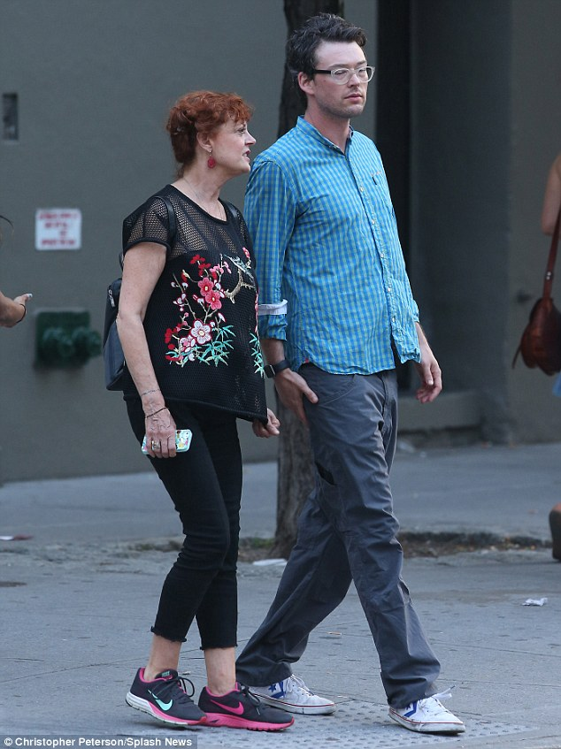 Romance: Susan and her boyfriend Jonathan Bricklin were seen walking in NYC on Thursday