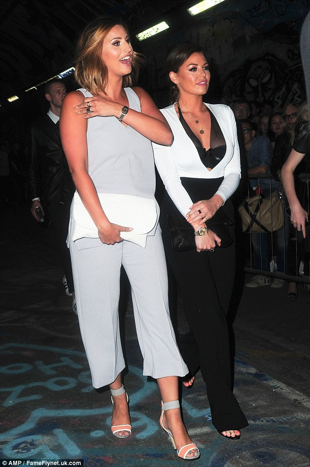 When reality meets fashion: The pair toned down their OTT Essex styles for the fashion focused bash