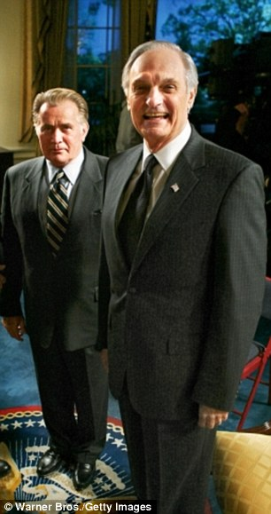 Alan with Martin Sheenin The West Wing
