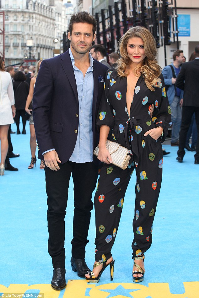 Date night: Made In Chelsea stars Spencer Matthews and Lauren Hutton hit the Entourage movie premiere in London's Leicester Square on Tuesday night