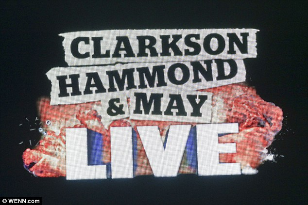 Clarkson has been reunited with his former hosts James May and Richard Hammond on their live show