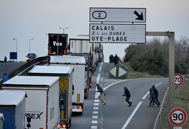 Most of the migrants stopped were found stowed aboard lorries boarding Channel Tunnel shuttle trains in Coquelles and ferries at Calais port