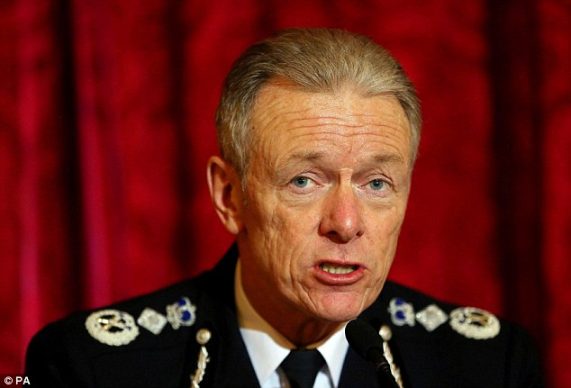 Met chief Sir Bernard Hogan-Howe (pictured) said there is no place on the thin blue line for unfit officers