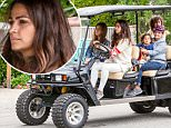 ***MANDATORY BYLINE TO READ INFPhoto.com ONLY***\nCamila Alves shuttles her kids on a golf cart from a kid's birthday party in Malibu, California.\n\nPictured: Camila Alves,  Livingston Alves McConaughey,  Vida Alves McConaughey\nRef: SPL1053551  130615  \nPicture by: INFphoto.com\n\n