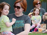 138625, Alyson Hannigan seen having a picnic with a friend and daughters Satyana, Keeva in Malibu. Malibu, California - Friday June 12, 2015. Photograph: Pedro Andrade, © PacificCoastNews. Los Angeles Office: +1 310.822.0419 sales@pacificcoastnews.com FEE MUST BE AGREED PRIOR TO USAGE