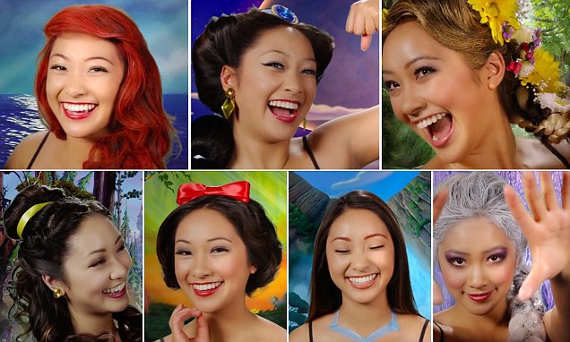 Disney fans take note, one woman magically transforms into seven Disney princesses