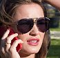 Picture Shows: Sam Faiers  April 20, 2015    ** Min Web / Online Fee £150 For Set **    British TV Personality Sam Faiers looks stressed as she chats on her cell phone while on a break during a photo shoot in London, England, UK.     Sam recently revealed excerpts from her autobiography where it's reported that she calls her former boyfriend Joey Essex a 'disgrace' and 'delusional'    The reality star showed off her figure in a black Calvin Klein crop top, denim cut-offs, and white sneakers.    ** Min Web / Online Fee £150 For Set **    Exclusive All Rounder  WORLDWIDE RIGHTS  Pictures by : FameFlynet UK © 2015  Tel : +44 (0)20 3551 5049  Email : info@fameflynet.uk.com
