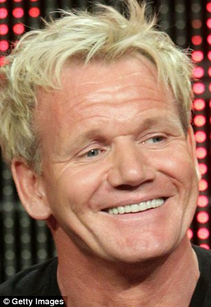He's got the look: Ramsay's hair procedure follows an extensive LA-style makeover which included Botox injections to remove lines on his chin and forehead, dental work to fit a gleaming set of teeth and highlighted hair