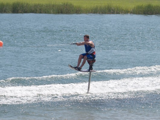 'A self-balancing hydrofoil jet ski like one of those hydrofoil wakeboards, but without th...