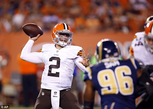 New challenge: Johnny Manziel is set to embark on his rookie year with the Cleveland Browns