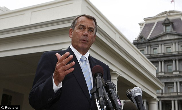 House Speaker John Boehner emerged from a White House meeting and declared that taxes are off the table as an option to avoid thesequester cuts