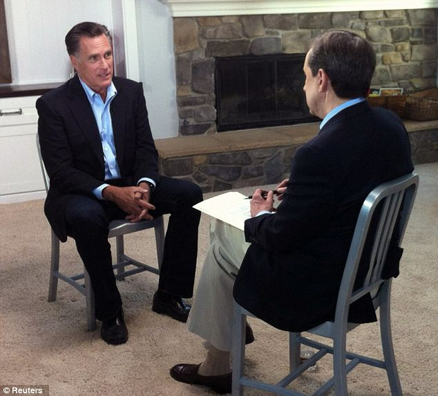 Sharing his thoughts: Former presidential candidate Mitt Romney said that the sequester is not a good move for President Obama and he blamed his former opponent for 'forcing' Republicans to dig in their heels