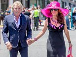 Lisa Vanderpump and husband, Ken Todd are seen heading into their full restaurant, Pump on LA Pride day in West Hollywood, California.  Pictured: Ken Todd and Lisa Vanderpump Ref: SPL1054229  140615   Picture by: VIPix / Splash News  Splash News and Pictures Los Angeles: 310-821-2666 New York: 212-619-2666 London: 870-934-2666 photodesk@splashnews.com