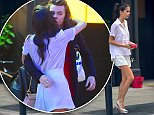 ***£1000 SET FEE***\n**NO WEB***\n**EXCLUSIVE** Sara Sampaio was spotted doing the walk of shame out of Harry Styles' NYC Hotel on Friday morning. She left just after 11am. The pair were seen sharing a hug and kiss just the night before. She wore the same outfit as the photos from the night before, but her shirt was wrinkled, untucked and she wasn't wearing her bra.