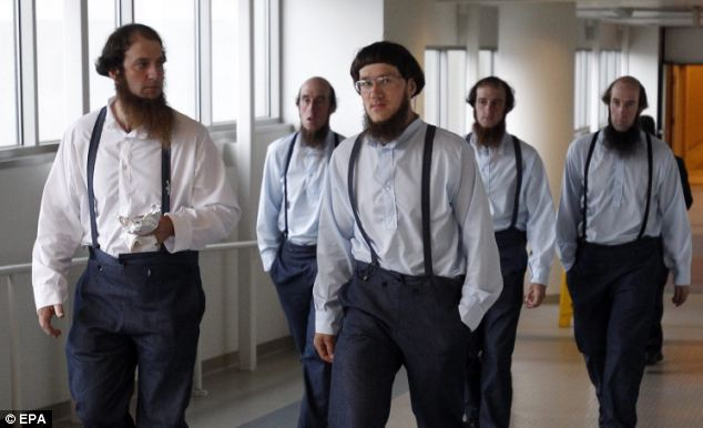 Community: Amish leave the Cleveland, Ohio federal courthouse where the case began last week