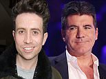 *** MANDATORY BYLINE TO READ: Syco / Thames / Corbis *** The X Factor judges are seen during the live show on Sunday November 2nd 2014. Pictured are Simon Cowell, Cheryl Fernandez-Versini, Mel B and Louis Walsh.  Pictured: Cheryl Fernandez-Versini, Simon Cowell Ref: SPL880895  021114   Picture by: Tom Dymond/Syco/Thames/Corbis