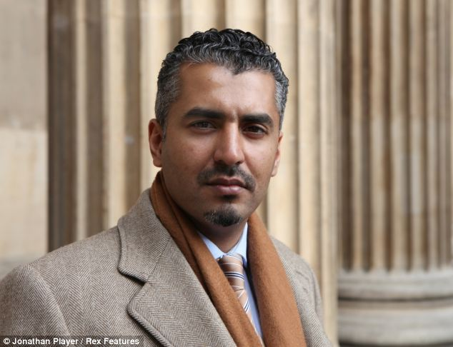 Past experience: Maajid Nawaz, who now works against Islamist extremism, spent 13 years inside Hizb ut-Tahrir, the global Islamist organisation that banned terrorist group al-Muhajiroun