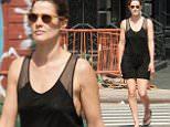 EXCLUSIVE: Cobie Smulders goes on a stroll in Tribeca, New York City.\n\nPictured: Cobie Smulders\nRef: SPL1051680  140615   EXCLUSIVE\nPicture by: NorthWoodsPix / Splash News\n\nSplash News and Pictures\nLos Angeles: 310-821-2666\nNew York: 212-619-2666\nLondon: 870-934-2666\nphotodesk@splashnews.com\n