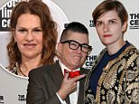 02 Apr 2015, Manhattan, New York City, New York State, USA --- NEW YORK-APR 2: Actress/comedian Lea DeLaria (L) and fianceé Chelsea Fairless attend the 2015 Center Dinner at Cipriani Wall Street on April 2, 2015 in New York City. --- Image by © Debby Wong/Corbis