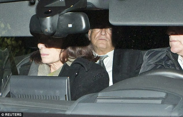 Denial: Strauss-Kahn, pictured this afternoon, after attending the trial in the so-called 'Carlton Affair' where 14 people including Strauss-Kahn stand accused of sex offences including the alleged procuring of prostitutes
