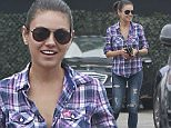 UK CLIENTS MUST CREDIT: AKM-GSI ONLY\nEXCLUSIVE: Mila Kunis and her father Mark enjoy Saturday lunch at Musso & Frank Grill in Los Angeles, CA on June 15, 2015. Kunis showed off her post-pregnancy body wearing a plaid shirt, jeans and black leather flats.\n\nPictured: Mila Kunis\nRef: SPL1054741  150615   EXCLUSIVE\nPicture by: AKM-GSI / Splash News\n\n