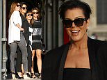 EXCLUSIVE: Kris Jenner and her friends buy mini-statues of the Eiffel Tower with US dollars before going to dinner in front of the Louvre museum in Paris.  Pictured: Kris Jenner Ref: SPL1052591  130615   EXCLUSIVE Picture by: Splash News  Splash News and Pictures Los Angeles: 310-821-2666 New York: 212-619-2666 London: 870-934-2666 photodesk@splashnews.com